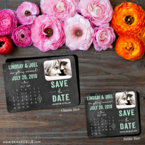 Chalkboard Calendar 2 Save The Date Magnet Classic And Petite Size1