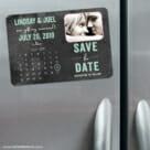Chalkboard Calendar 3 Refrigerator Save The Date Magnets1