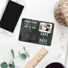 Chalkboard Calendar 7 Wedding Save The Date Magnets1