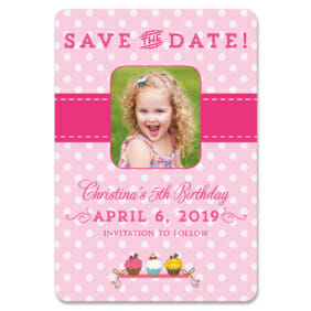 Cupcake Delight 1 Save The Date Magnets1
