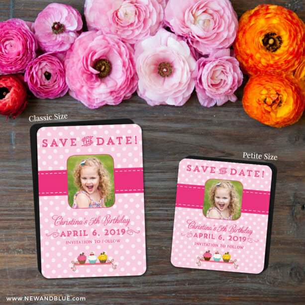 Cupcake Delight 2 Save The Date Magnet Classic And Petite Size1