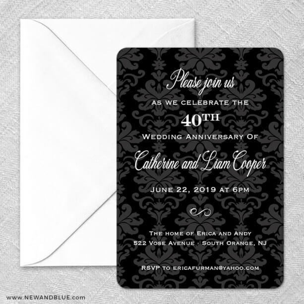 Anniversary Party Classic Size Save The Date Magnet And Envelope1
