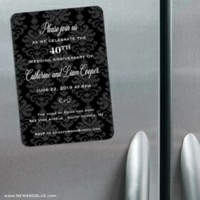 Anniversary Party Refrigerator Save The Date Magnets