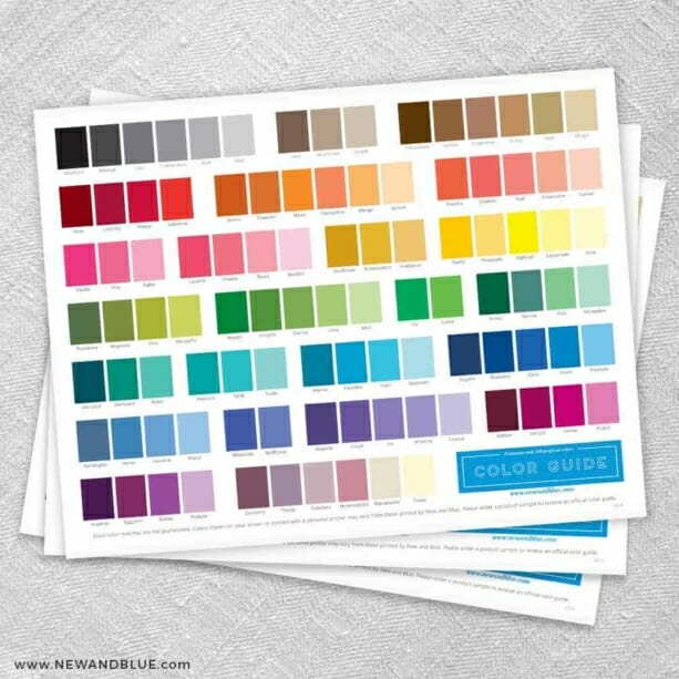 Save the Date Magnet Color Guide