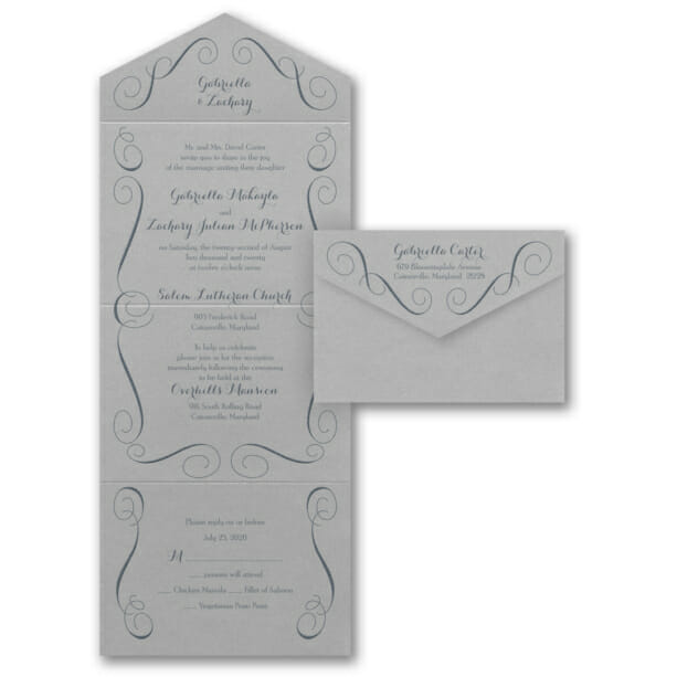 Swirl Borders For Wedding Invitations: All In One Wedding Invitations, Seal And