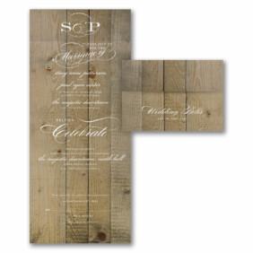 Vintage Woodgrain Love
