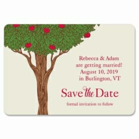 Apple Tree Design Save The Date Magnets