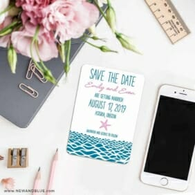 Astoria Save The Date Magnet Classic Size