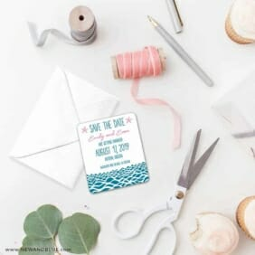 Astoria Save The Date Magnet Petite Size
