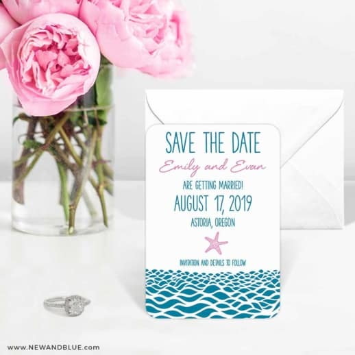 Astoria Wedding Save The Date Magnets