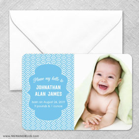 Baby Chevron Classic Magnet And Envelope1