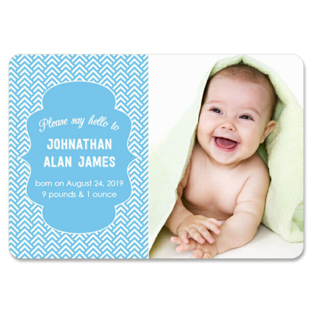Baby Chevron Design Save The Date Magnets1