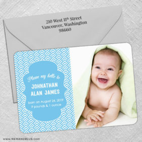 Baby Chevron Magnet Shown With Color Envelope1