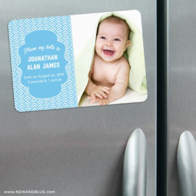 Baby Chevron Magnetic Save The Date1