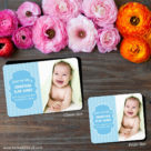 Baby Chevron Save The Date Magnet Shown In Classic Size And Petite Size1