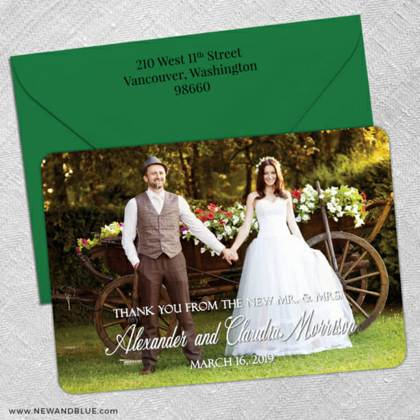 Big Thanks 5 Save The Date With Optional Color Envelope1