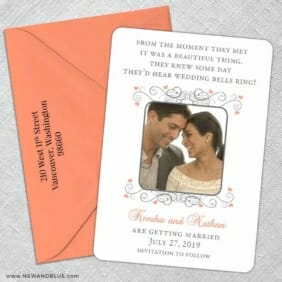A Summer Dream 5 Save The Date With Optional Color Envelope