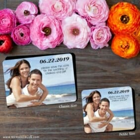 Adventures Await 2 Save The Date Magnet Classic And Petite Size