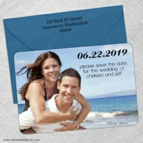 Adventures Await 5 Save The Date With Optional Color Envelope