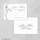 Allure Calla Lily Rsvp Card And Envelope
