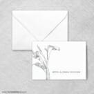 Allure Calla Lily Thank You Card And Envelope