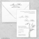 Allure Calla Lily Wedding Invitation With Envelope
