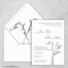 Allure Calla Lily Wedding Invitation With Envelope Liner2