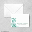 Aloha Thank You Card And Envelope