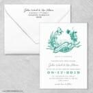 Aloha Wedding Invitation With Envelope