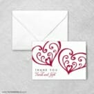 Amour Thank You Card And Envelope