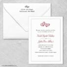 Amour Wedding Invitation With Envelope