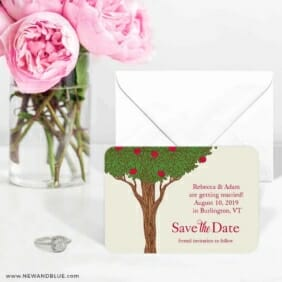 Apple Tree 6 Wedding Save The Date Magnets