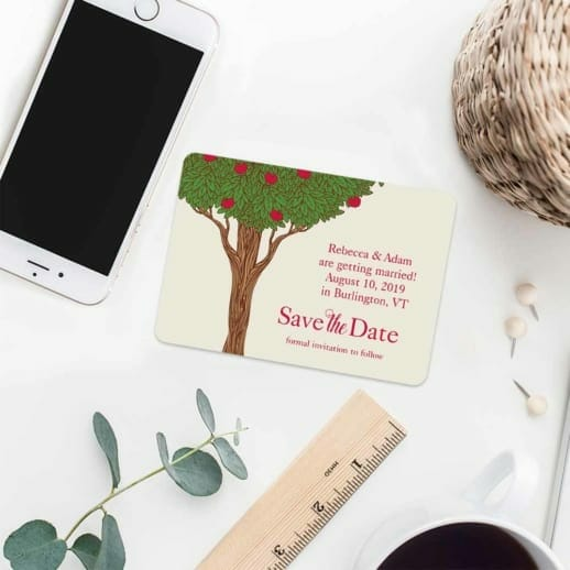 Apple Tree 7 Wedding Save The Date Magnets