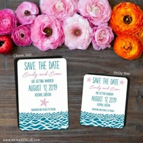 Astoria 2 Save The Date Magnet Classic And Petite Size