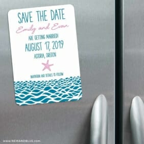 Astoria 3 Refrigerator Save The Date Magnets