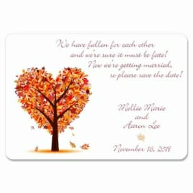 Autumn Romance 1 Save The Date Magnets