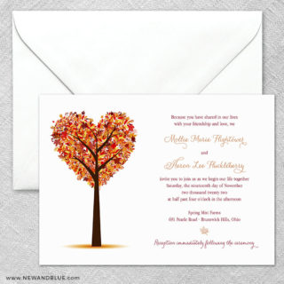 Autumn Romance 2 Invitation And Envelope