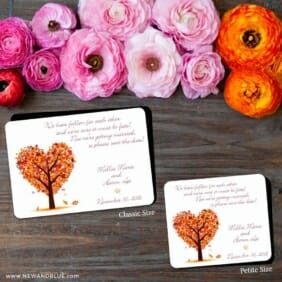 Autumn Romance 2 Save The Date Magnet Classic And Petite Size