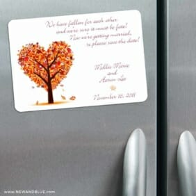 Autumn Romance 3 Refrigerator Save The Date Magnets