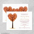 Autumn Romance 4 Invitation Shown With Back Printing