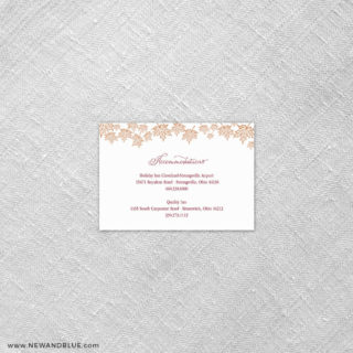 Autumn Romance 7 Reception Card