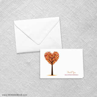 Autumn Romance 8 Thank You Card