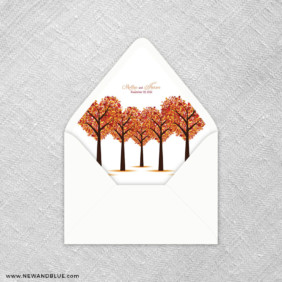Autumn Romance 9 Envelope Liner