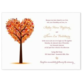 Autumn Romance Wedding Invitation