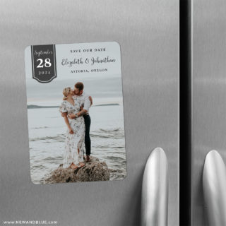 Badge Of Love 2 Save The Date Refrigerator Magnet