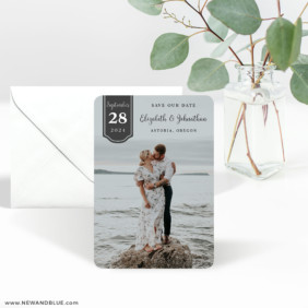Badge Of Love 3 Save The Date Magnet With Envelope