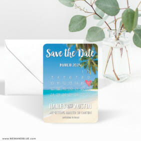 Beach Calendar 3 Save The Date Magnet With Envelope