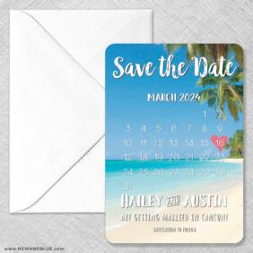 Beach Calendar Magnet Size Classic