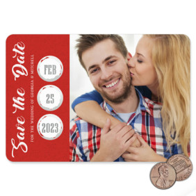Believe In Love 1 Scratch Off Save The Date Magnet