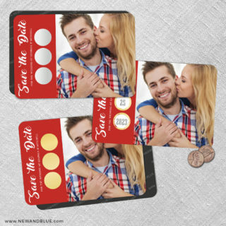 Believe In Love 2 Scratch Off Save The Date Fridge Magnet